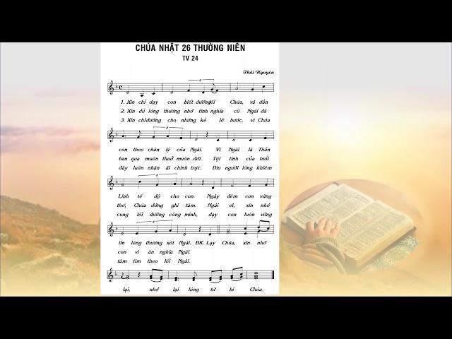 Thánh vịnh Đáp ca Chúa nhật 26 Thường niên A (Lm. Thái Nguyên)
