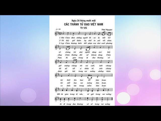Đáp ca Lễ Các Thánh Tử Đạo Việt Nam - TV 125 (Lm. Thái Nguyên - Bích Ngọc)