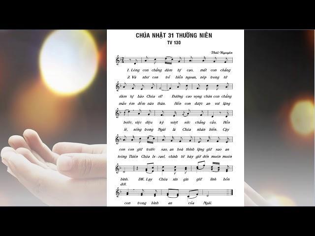 Thánh vịnh Đáp ca Chúa nhật 31 Thường niên A (Lm. Thái Nguyên - Bích Ngọc)