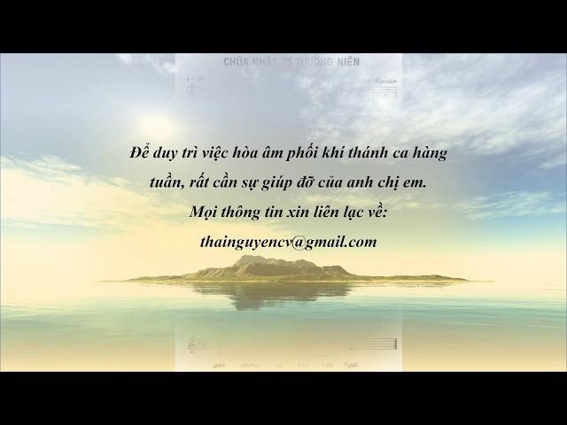 Thánh vịnh Đáp ca Chúa nhật 25 Thường niên A – Lm. Thái Nguyên